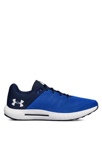 Under Armour blue UA Micro G Pursuit Shoes UN337SH0SU8YMY_1