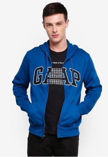 GAP blue Arch Zip Hoodie 6A93AAA6370395GS_1
