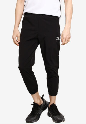 361° black Running Series Sports Cropped Pants B3CB4AA4A0B00BGS_1