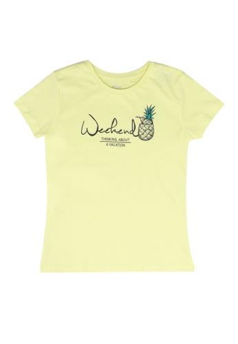 FOX Kids & Baby yellow Kids Girl Short Sleeves Printed Tee 75D3CKAD794B34GS_1