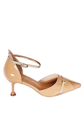Twenty Eight Shoes beige Serpentine Pattern Strip High Heels VL1913 18DF1SHD75BB3DGS_1