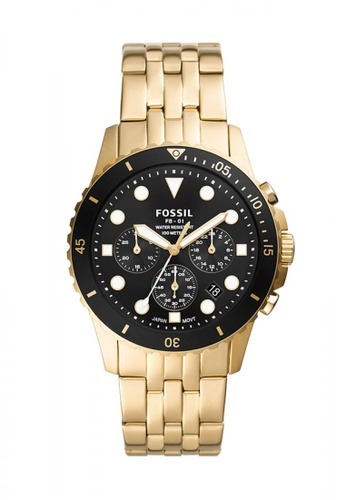 Fossil black and gold Fb - 01 Chrono Stainless Steel Watch FS5836 8C14CACDB2E8EBGS_1