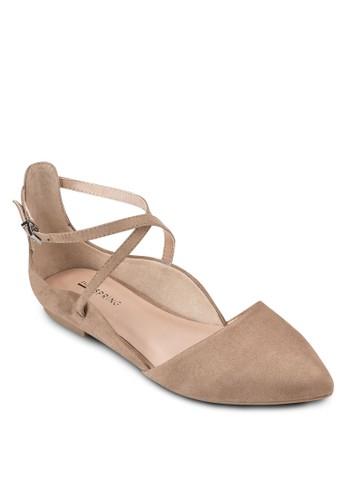 Sultane 交叉踝帶尖頭平底鞋、 女鞋、 鞋CallItSpringSultane交叉踝帶尖頭平底鞋最新折價