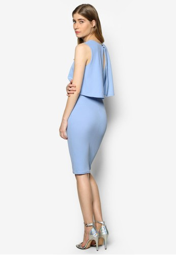 Lisaesprit分店 層疊荷葉飾無袖洋裝, 服飾, 洋裝