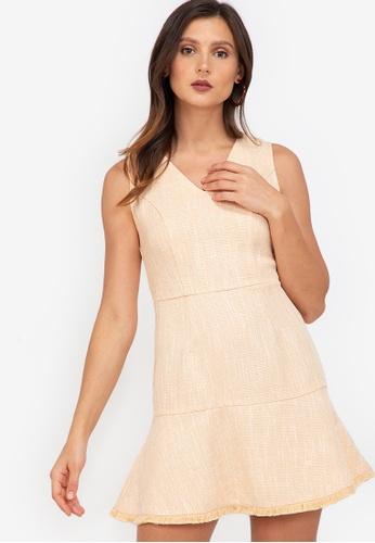 ZALORA WORK multi Sleeveless Tweed Dress A5FABAA741D6F4GS_1