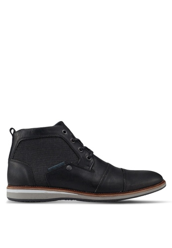 Dune London black Client Double Toecap Wedge Boots E444CSH99111F4GS_1