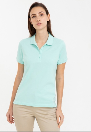 Bossini green Short Sleeve Solid Polo Shirt 4CE3BAAE2F0C73GS_1