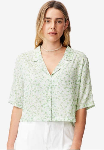 Cotton On green Jorden Short Sleeve Shirt 24B24AADBA5EF3GS_1