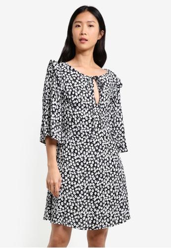 Mango black Flared Sleeves Dress MA193AA0RXSOMY_1