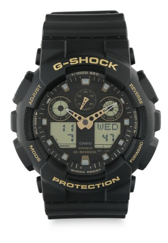 G-shock black G-shock Men Analog Ga-100Gbx-1A9Dr Black Gold 8663DACF6A190FGS_1