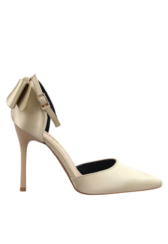Twenty Eight Shoes gold Double Layer Bows Evening and Bridal Shoes VP51961 8382DSH4006F49GS_1