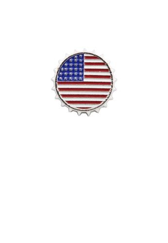 Glamorousky silver Fashion Creative Flag Geometric Round Brooch 79002ACBEB6834GS_1