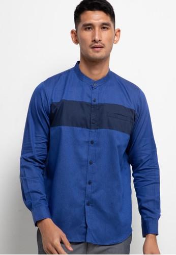 TWO-D by DHINI AMINARTI blue Koko Tangan Panjang 72DE7AA444FCB4GS_1