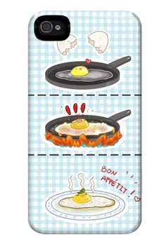 Sunny Side Up Matte Hard Case for iPhone 4,4s