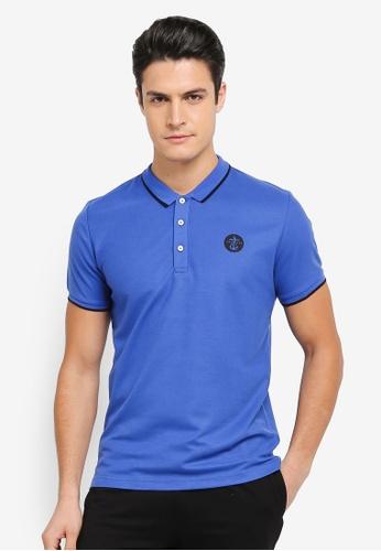 JAXON blue Nautical Polo Shirt 58231AA4910AB5GS_1