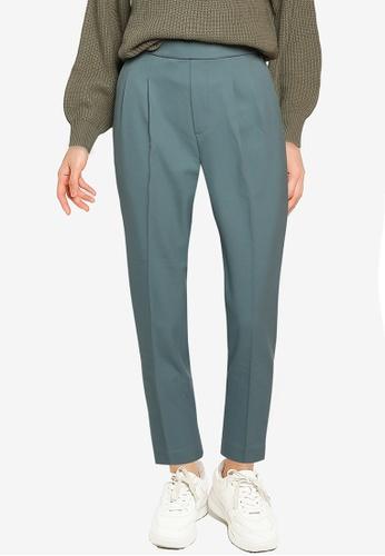 GLOBAL WORK green Casual Pleat Pants F6987AA8A7907EGS_1