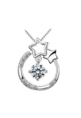 YOUNIQ silver YOUNIQ Starry Eyes 925 Sterling Silver Necklace Pendant with Silver Cubic Zirconia 37DFDAC8866112GS_1
