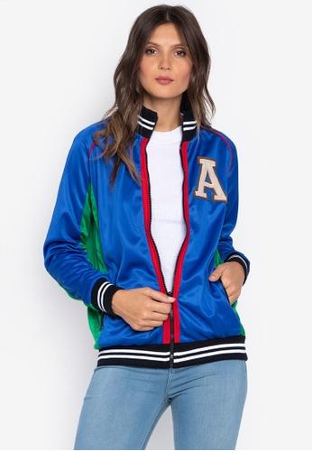 Courier blue Varsity Jacket 67C0AAA3755B89GS_1