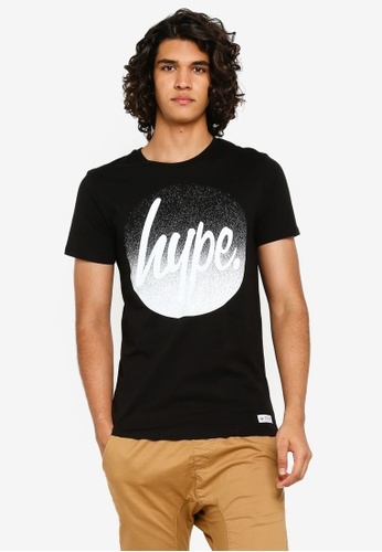77b36d8a7a99 Just Hype black Hype Speckle Fade Circle T-Shirt 4070FAA310B7F5GS_1