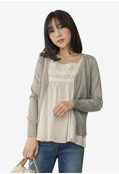 231d847e2411 Tokichoi grey Basic Knitted Cardigan C95C7AAA437279GS 1