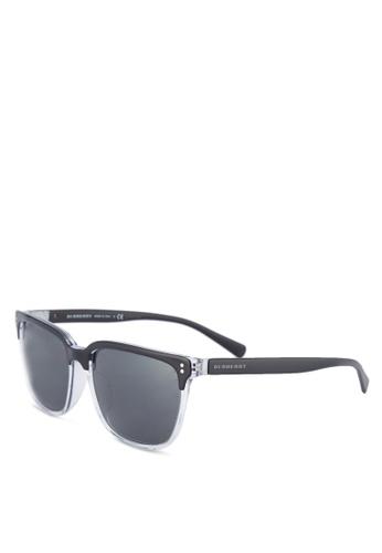Burberry black Black Rectangular BE4255F Sunglasses BU958GL22URTMY_1
