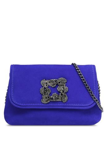 Dune London blue Brooch Trim Evening Bag DU588AC0RK5RMY_1