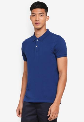 OVS blue Basic Polo Shirt 4C8A4AA377F319GS_1