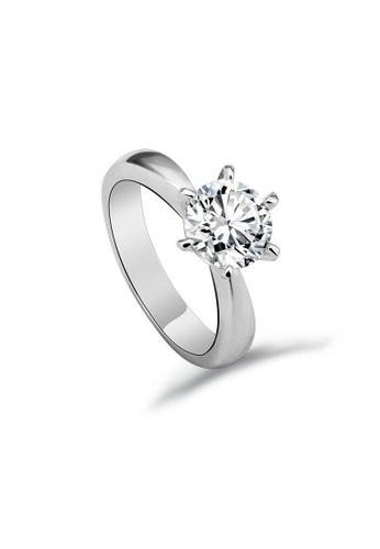 OUXI silver OUXI Zirconia Ring - 40115 OU821AC20XILMY_1