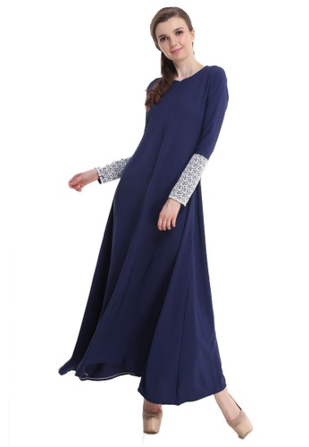 Amar Amran black and blue Jubah Hawa 8F1B5AA6811AB5GS_1
