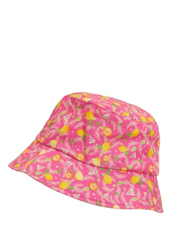 DeFacto pink Patterned Bucket Hat ABEE3KC8AB5DC8GS_1