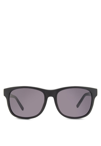 Boss Orange black Trendy Faceted Temple Sunglasses BO434GL92HRRMY_1