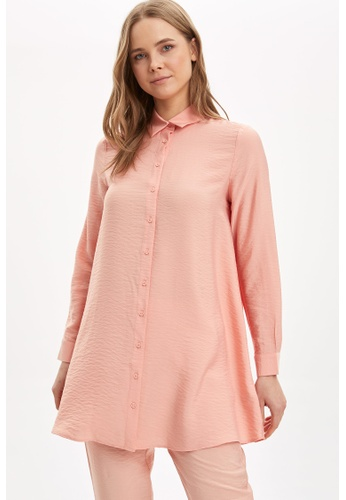 DeFacto pink Woman Long Sleeve Woven Tunic 6F4AFAA2542099GS_1