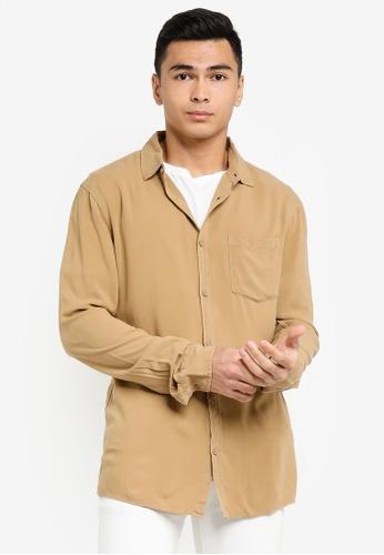 Cotton On brown Cayman Long Sleeve Shirt A72A7AA568541FGS_1