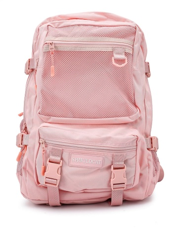 Bagstationz pink Multi-Compartment Large Backpack 87649ACEA52165GS_1