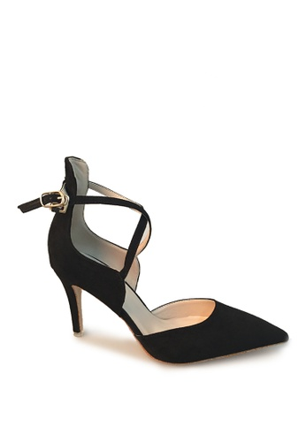 Sunnydaysweety black 2017 New Retro Buckle High-heeled Shoes C03015 SU443SH29LNMHK_1