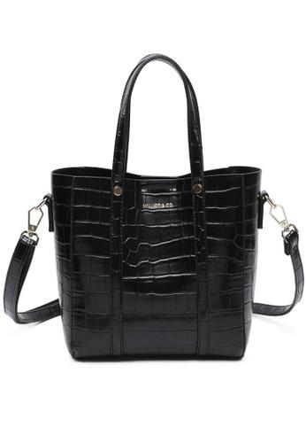 Milliot & Co. black Selma Tote Bag C12EFAC3B3DEE0GS_1