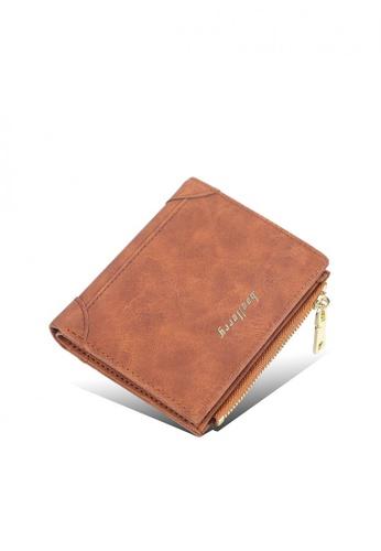 Baellerry brown Vintage Mini Slim Card Holder Zipper Pocket Wallet EC4D8ACD9C9226GS_1