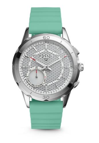 Fossil green Fossil Q Modern Pursuit Mint Green Silicone Hybrid Smartwatch FTW1134 FO164AC82RKVMY_1