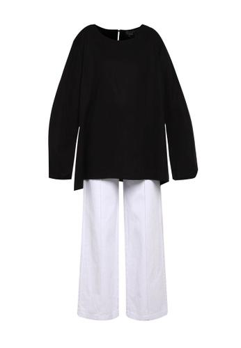 Zariya black Blouse & Tunics EA362AA1EAC08EGS_1