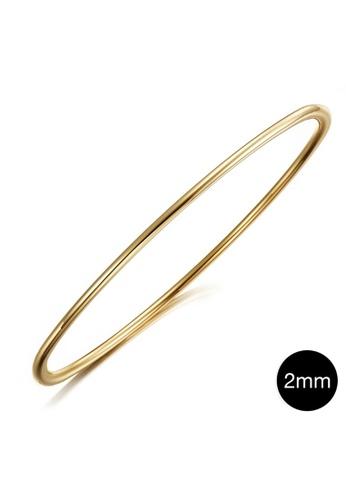 Bullion Gold gold BULLION GOLD Solid Golf Bangle 2mm Gold Layered - 55 mm BBE3AAC66CD9E6GS_1