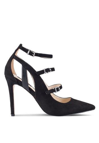 ZALORA 黑色 多色 Strap Pointed 高跟鞋 3EEBDZZ76ECC66GS_1