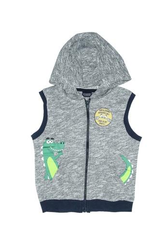 LC Waikiki grey Boy's Zip-Down Vest with Hoodie 2F786KA672F660GS_1