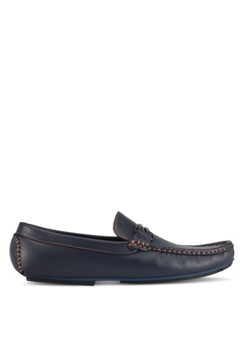 UniqTee blue Sleek Loafers With Buckle & Stitch 0907BSHD099630GS_1