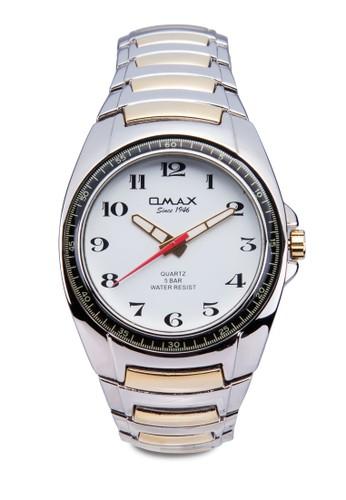 OMAX DBA489 雙esprit台灣門市色經典圓框鍊錶, 錶類, 不銹鋼錶帶