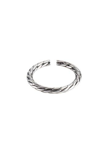 A-Excellence silver Premium S925 Sliver Geometric Ring C2A68ACC1F9D8DGS_1