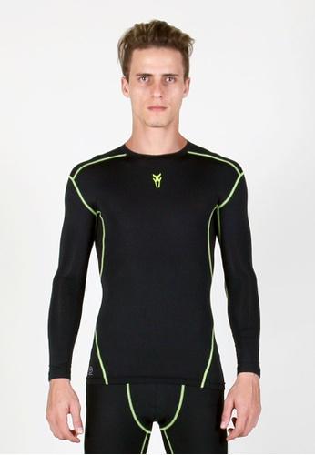 AMNIG black Amnig Men's Maxforce Agility Compression Long Sleeves Top 1B8E1AAB402D43GS_1