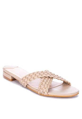 ABOUT A GIRL beige Braided Flat Sandals 0E44ASH05D3932GS_1