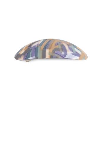 Glamorousky yellow and purple Fashion Simple Color Pattern Geometric Hair Slide DB7D2AC6B1C45DGS_1