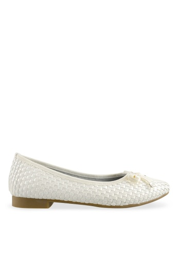 Footspot white FOOTSPOT - Casual Sqare Toe Flats FO296SH2V7YEHK_1