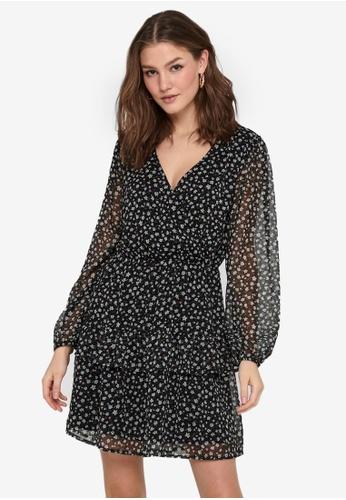 JACQUELINE DE YONG black Penelope Long Sleeve Dress 65E12AA11BEA22GS_1